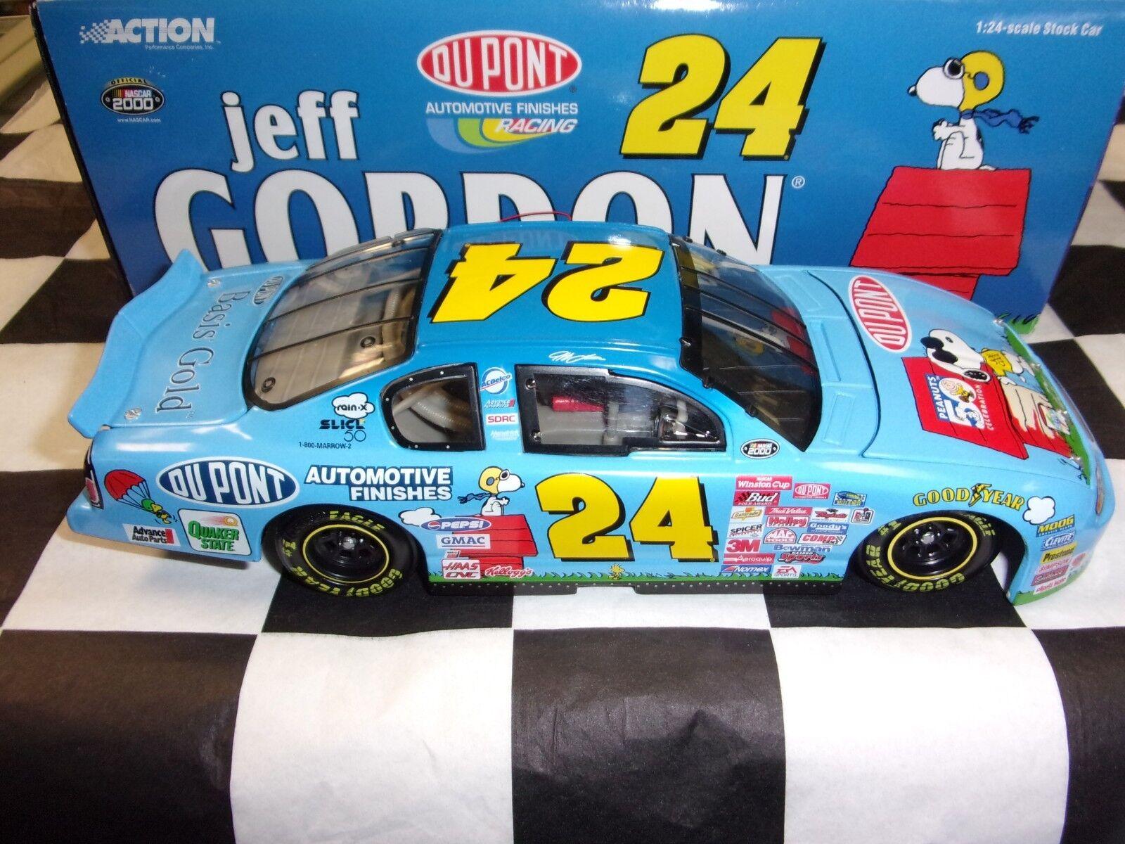 Jeff Gordon  24 Dupont Peanuts 2000 MONTE échelle 1 24 Voiture Action NASCAR 100542