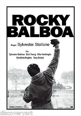 Rocky Balboa Movie Poster Canvas Art Print Sylvester Stallone Mike Tyson Boxing