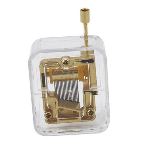 Retro Hand Crank Music Box Party Present Musical Gift Kids/'s Educational Toy WE