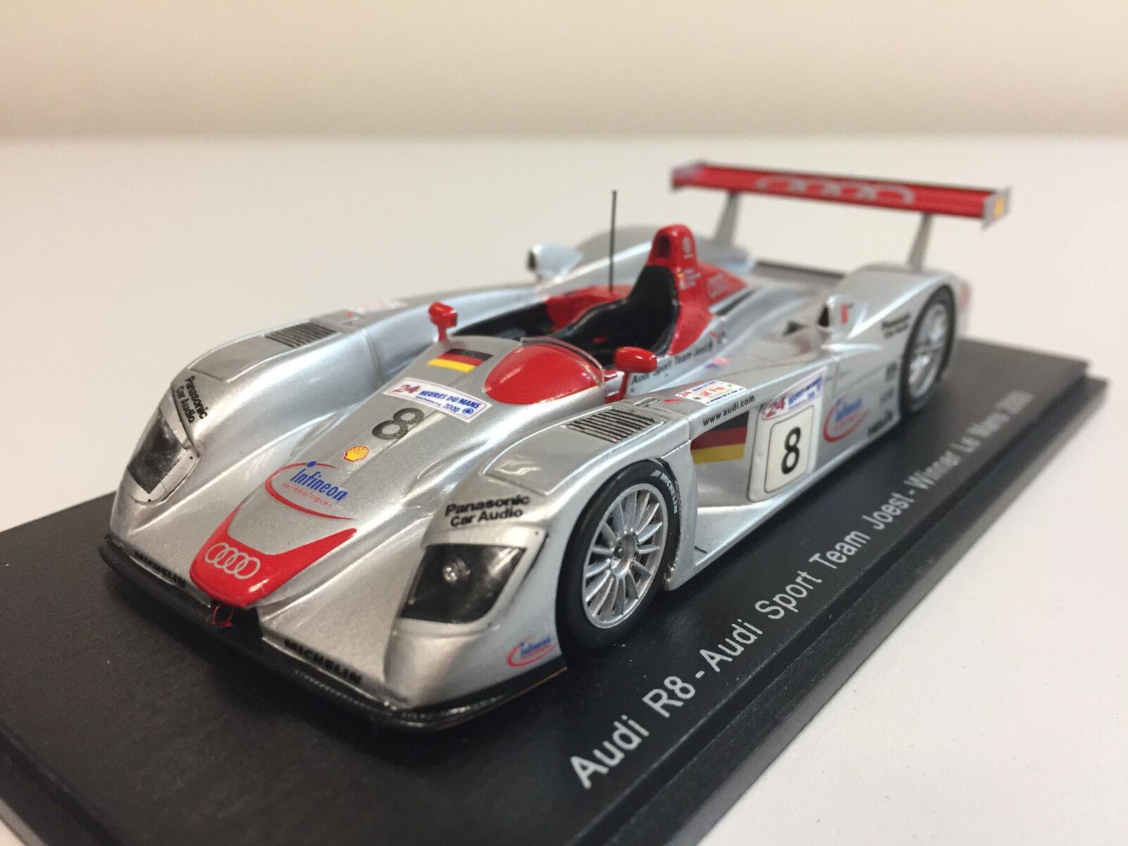Spark Audi R8 N ° 8 Winner 24h de Mans 2000 1 43 43lm00