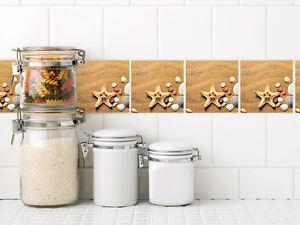 Details zu Fliesenbilder Klebefliesen Fliesen bekleben Bad und Küche Set  Sand Muschel Stern