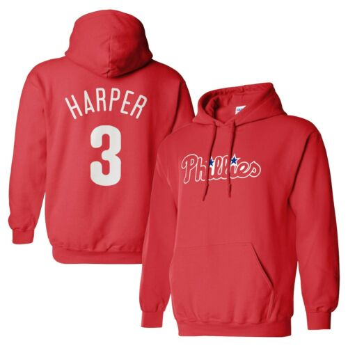 Custom Red Hoodie ANY NAME # Bryce Harper Philadelphia Phillies Pullover Jersy