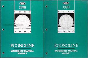1998 Ford Econoline Van Shop Manual Set E150 E250 E350 ...