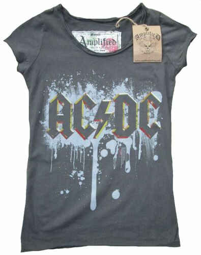 Tattoo G Vip Acdc Rock Dc shirt Ac Vintage s Officiel Star Spray Amplified T x7w6In