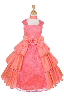 Beautiful Taffeta Bubble Flower Girl Dress Pageant Birthday Wedding Bridesmaids