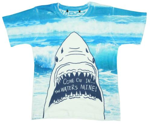 Boys T-Shirt Come In Shark Top The Waters Mine Summer Tee Kids 4 to 14 Years