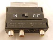Scart Adaptor 3 RCA Phono SVIDEO SVHS AV Adaptor UK