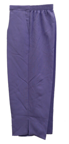 NEW 3//4 LADIES WOMENS HALF ELASTICATED WAIST CROPPED TROUSERS WITH POCKETS 12-26
