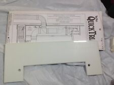 VacPan Trim Plate for Central Vacuum Systems WHITE