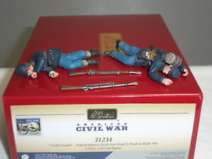 Britains 31234 Fédéral Infantry Casual Ground Ground Costed Metal Toy Soldier Set 884101312343