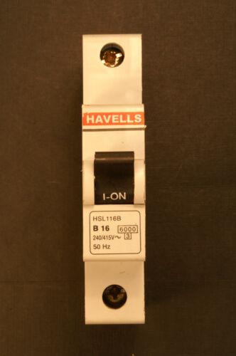 Havells MCB  Circuit Breaker HSL Range Main switch Isolator RCD RCCB Tested