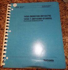 Tektronix 1450-1450-1 Intruction Manual