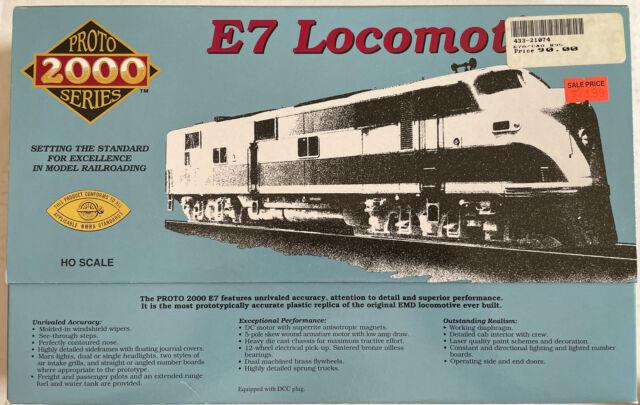 w// DCC No Sound HO Proto 2000 E-7 C /& O # 95 A Unit w// Mars Light