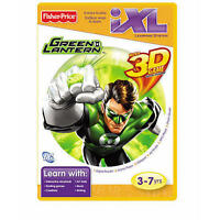 Fisher Price Ixl Green Lantern W/ 3d Game Glasses Included 3-7yrs