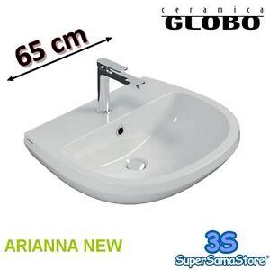Ceramica Globo Serie Arianna.Dettagli Su 3s Lavabo Bagno Larghezza 65 Cm Modello New Arianna Ceramica Globo A5n65 Bi