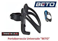 """110 - Portaboraccia """"BETO"""" Nero Attacco Universale per Bici 26-28 Corsa Vintage"""