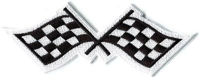 Checkered flag chequered car racing rockabilly applique iron-on patch new S-1132