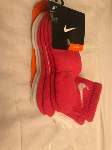Nike Girl's 3 Pack Socks Size UK 10.5-12 BNWT