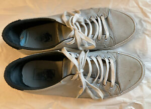 Well-Worn-Used-Vans-Canvas-Sneakers-Men-s-9-Gray-Black-Low-Top-Skater-Punk