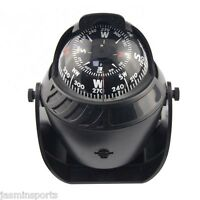 Led Light Sea Marine Electronic Digital Car Compass Boat Caravan Truck Black