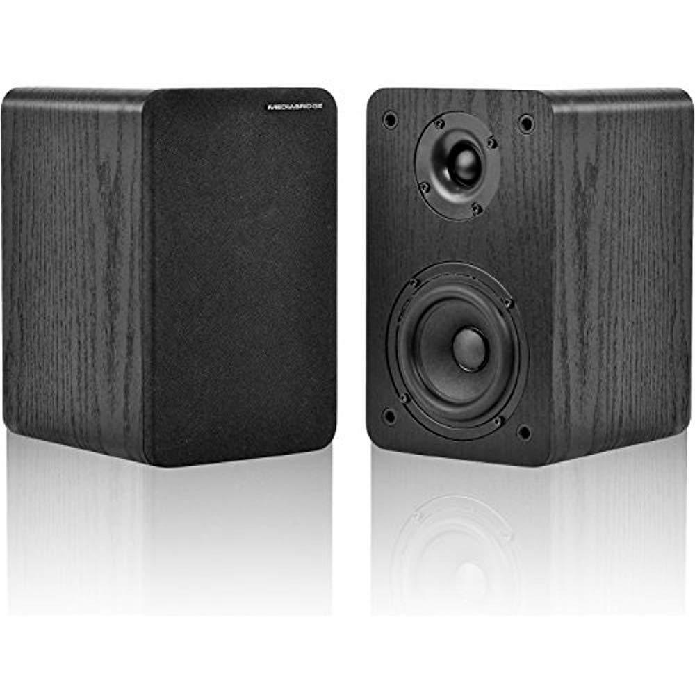 MS-BP1B Bookshelf Speakers Pair With 4  Carbon Fiber Woofer 1  Silk Dome Tweeter