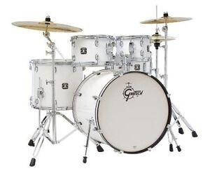 gretsch drums energy gex e825pk wh 5 piece drum set white ebay. Black Bedroom Furniture Sets. Home Design Ideas