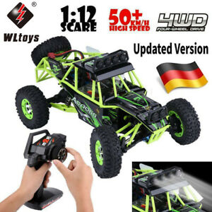 Wltoys 1/12 RC Auto 50km/h High Speed 2.4GHz 4WD Geländewagen Crawler Truck Car