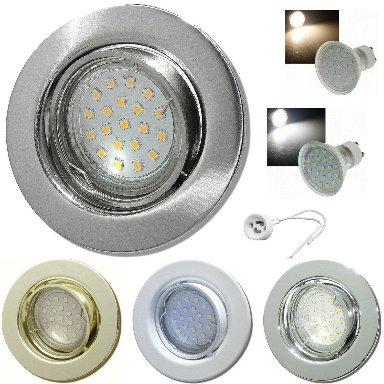 1- 10er Sets  7W Power LED Einbaustrahler – Lucy - 230Volt Spots. SMD Downlights