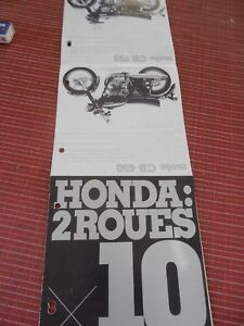 Catalogue / Pub - Honda - Moto - ( 29 ) Frissons Et Douleurs
