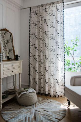 Boho Curtain Tassel For Living Room Windows Bedroom Cotton Linen Curtains Drapes