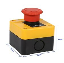 Button Switch Box Emergency Stop Push 4 Screw Terminals 600v Red Mushroom