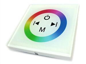 Ecu-RGB-Led-Set-Controlador-Tocar-Panel-Completo-Color-Empotrable-Cuadrado-12V