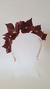 Burgundy-amp-Gold-Leather-Crown-Headband-Wedding-Fascinator