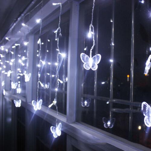 3.5M 96LED Waterfall Curtain Fairy Lights String Light Wedding Party Xmas Decor