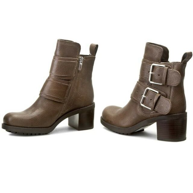 Damens's Clarks Pilico Shine Rounded Toe Ankle Stiefel in in Stiefel Braun UK 4 b65229