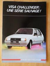 CITROEN Visa Challenger Special Edition 1985 French Market sales brochure