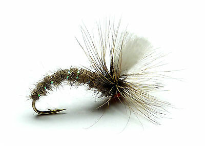 3x, 6x or 12x Fly Fishing Trout Flies (AHR8) KLINKHAMMER HARES EAR Trout Dry Fly
