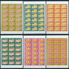 PAPUA 2005 FRANGIPANI Flowers MNH Sheets x 6(108 Stamps)Cat.200+Pounds(Pap110)