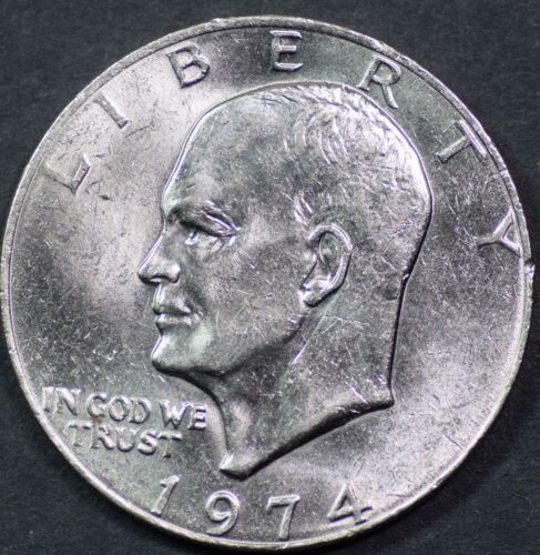 "1974-P Eisenhower Dollar /""Circulated/"" US Mint Coin Ike"