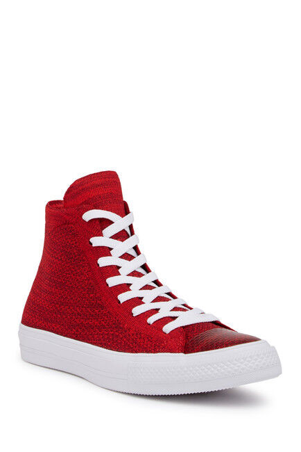 Chuck Taylor All Star FlyKnit Hi-Top Casino Red Deep Burgundy White Sneaker