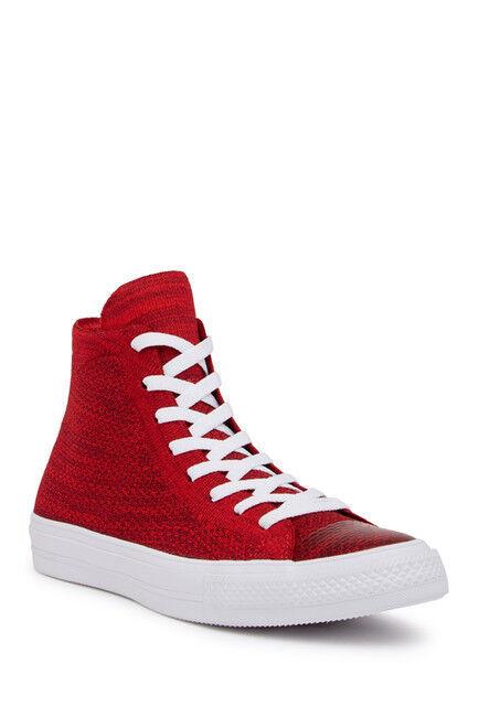 Scarpe casual da uomo Chuck Taylor All Star FlyKnit Hi-Top Casino Red Deep Burgundy/White Sneaker