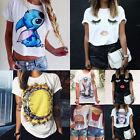 New Fashion Womens Ladies Eyelash Summer Loose Tops Short Sleeve Blouse T Shirt