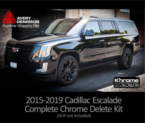 Grill not included Chrome Delete Kit fitting the 2016-2019 Cadillac Escalade