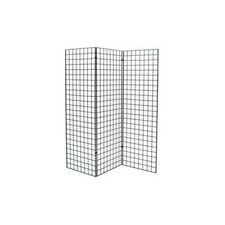 Grid Wall Z Unit 3 Panels Black 72x24 In Durable Rust Resistant Storage Display
