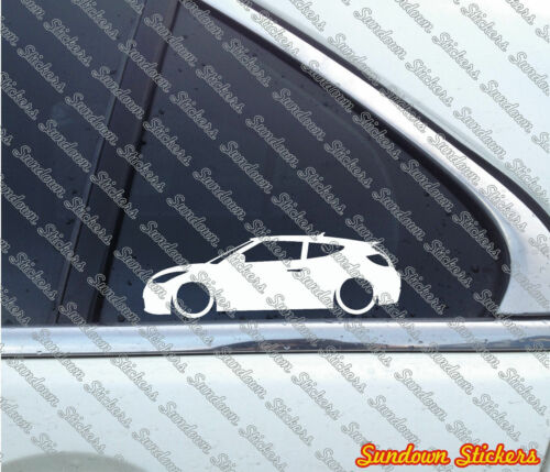 for Hyundai Veloster Turbo 2x Lowered car outline stickers