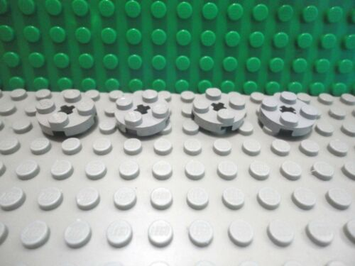 Lego 4 Classic Light Gray 2x2 circular round plate base
