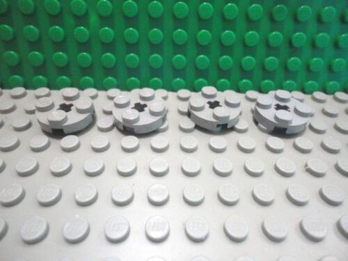 Lego 4 Classic Light Gray 2x2 circular round plate base