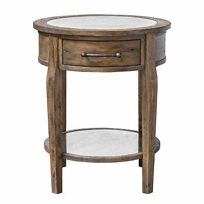 Clic Round Light Wood Accent Table