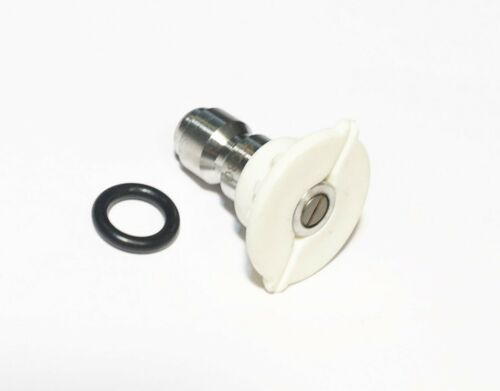 Pressure Washer Quick Connect Tip Nozzle Size 6 GPM White 40 Degree Spray Angle