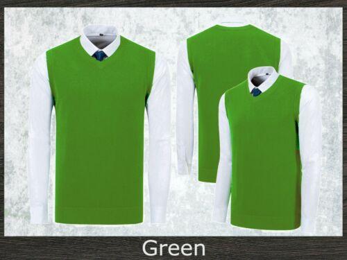 Men/'s Business V-Neck Tank Top Knitted Vest Office Sleeveless Maroon Burgundy